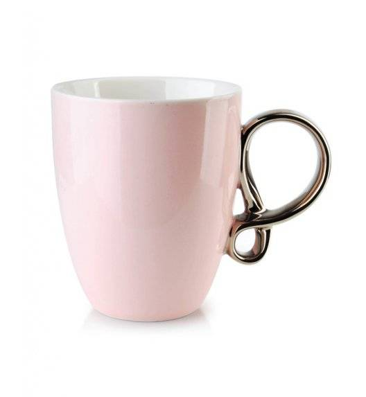 INFINITY SILVER Kubek 370 ml / różowy / porcelana