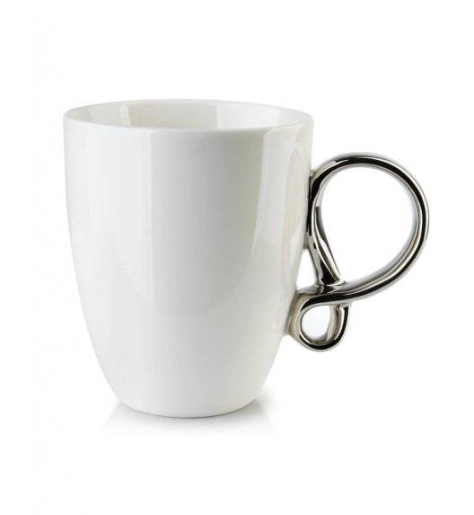 INFINITY SILVER Kubek 370 ml / biały / porcelana