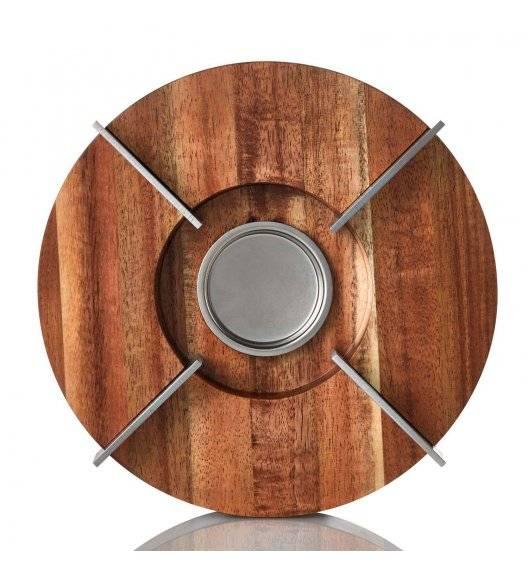 ADHOC TUTO Podgrzewacz do imbryka Ø16 cm / drewno akacjowe