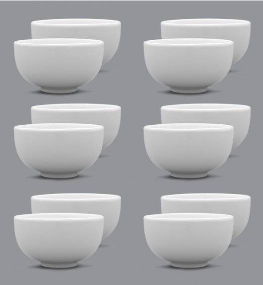 LUBIANA CLASSIC Komplet Miska / salaterka 8 cm / 12 elementów /porcelana