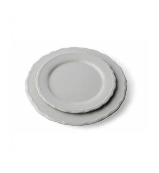 JULIET Talerz deserowy 21 cm  / szary / ceramika