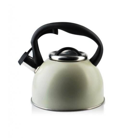 COOKINI CARLO Czajnik 2,5 l / oliwkowy / stal nierdzewna
