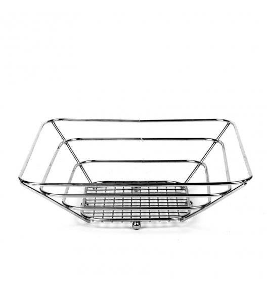TADAR Koszyk na owoce 24 cm / kwadratowy / metal