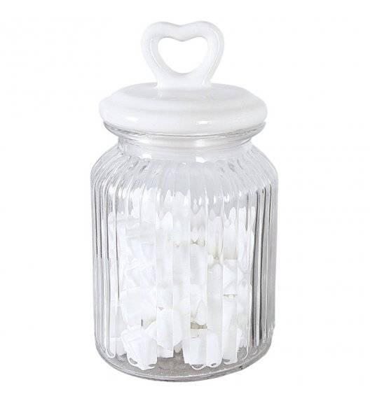 TADAR SERCE Słoik ozdobny z ceramiczną pokrywką 1 L / szkło