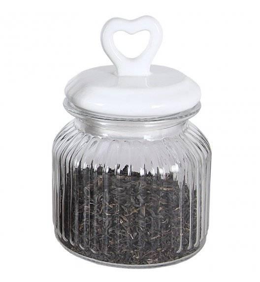 TADAR SERCE Słoik ozdobny z ceramiczną pokrywką 650 ml / szkło