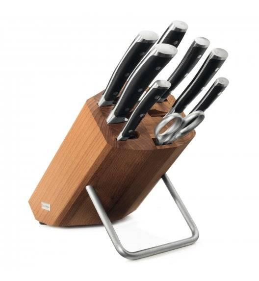 WÜSTHOF CLASSIC IKON Komplet noży w bloku / 9 elementów / stal kuta