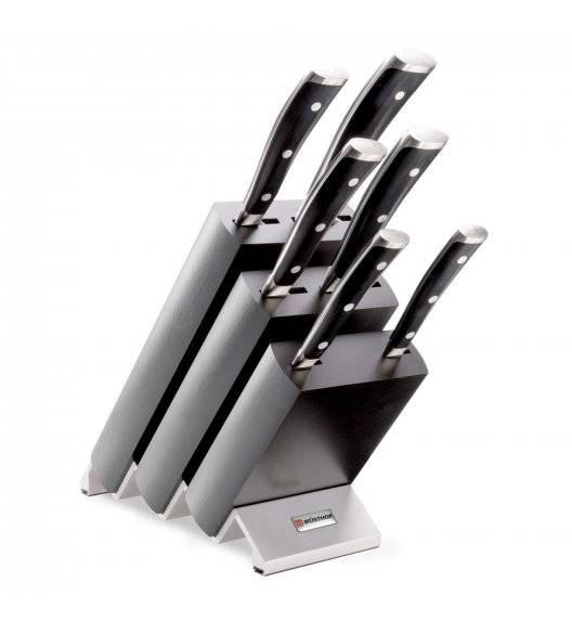 WÜSTHOF CLASSIC IKON Komplet noży w bloku / 7 elementów / stal kuta