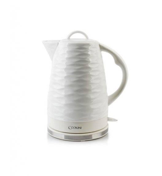 COOKINI WAVE Czajnik elektryczny 1,7 l / biały / porcelana