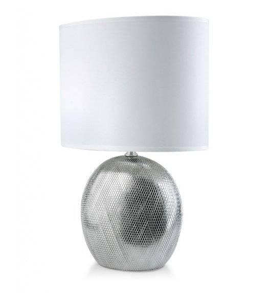 MONDEX ELITE Lampa 39 cm / srebrna / ceramika