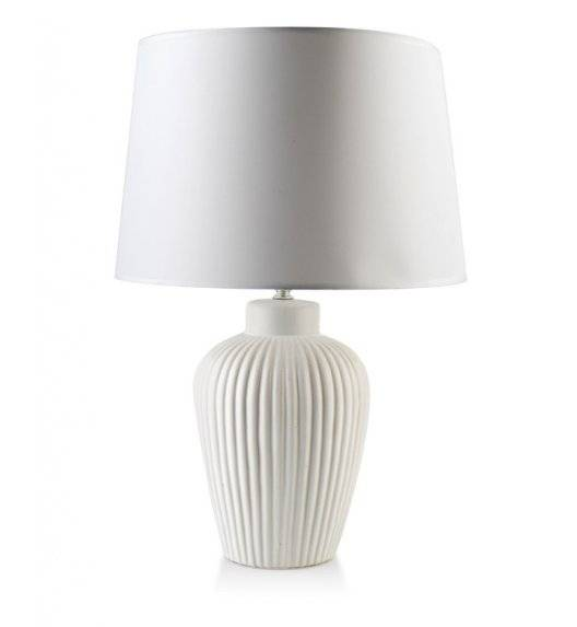 MONDEX ELLE STRIPES Lampa 52,5 cm / biała / ceramika