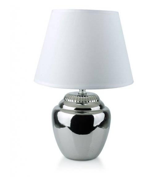 MONDEX ELLE SILVER Lampa 35,5 cm / srebrno - biała / ceramika