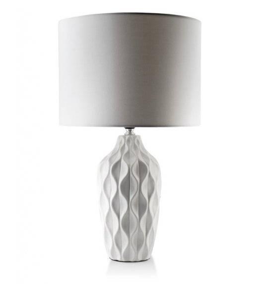 MONDEX ELLE GEO Lampa 46 cm / biała / ceramika
