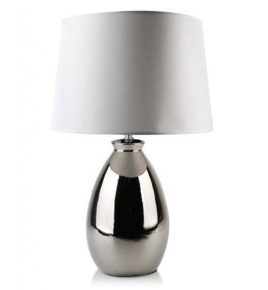 MONDEX ELLE SILVER Lampa 56 cm / srebrna / ceramika