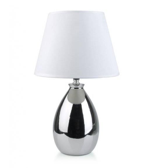 MONDEX ELLE SILVER Lampa 39 cm / srebrna / ceramika