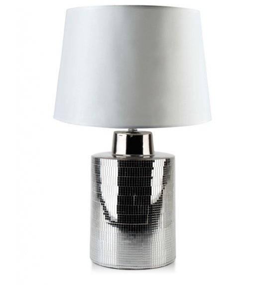 MONDEX ELLE SQUARE Lampa 55 cm / biało - srebrna / ceramika