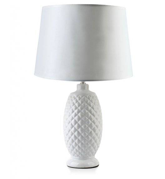 MONDEX DIAMOND Lampa 54 cm / biała / ceramika