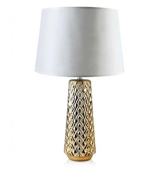 MONDEX LENA Lampa 52,5 cm / biało - złota / ceramika