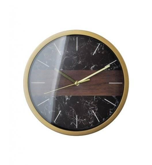 MONDEX Zegar ścienny okrągły 30,5 cm / czarny marmur