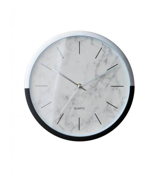 MONDEX Zegar ścienny okrągły 30,5 cm / biały marmur