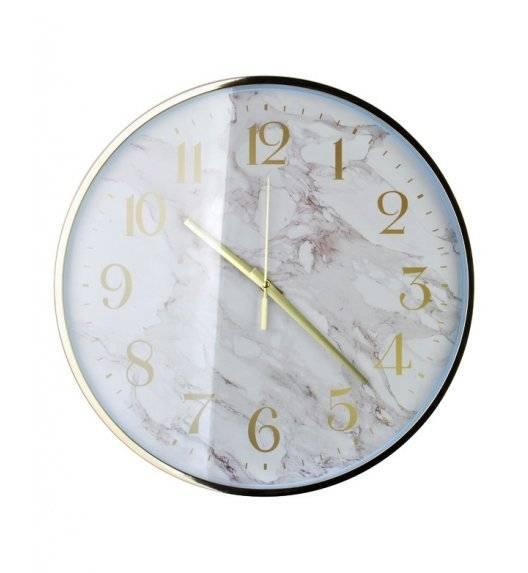 MONDEX Zegar ścienny okrągły 45,7 cm / biały marmur