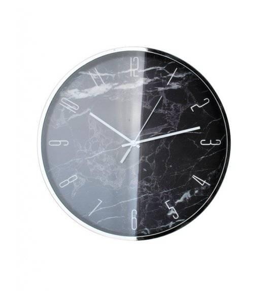 MONDEX Zegar ścienny okrągły 40,6 cm / czarny marmur