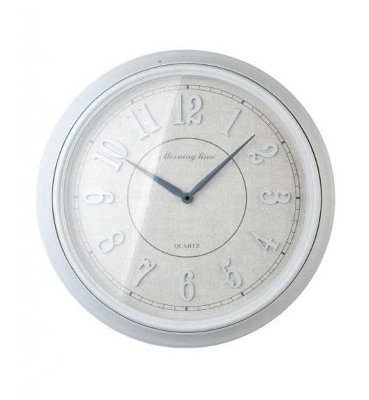 MONDEX Zegar ścienny okrągły 55,8 cm / biały nakrapiany