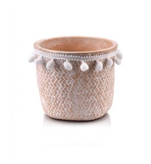 MONDEX ROSITA Doniczka ceramiczna 14,5 x 13 cm / beżowa