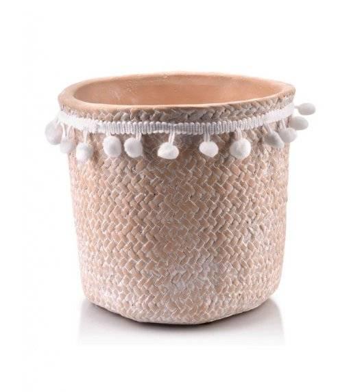 MONDEX ROSITA Doniczka ceramiczna 18 x 17 cm / beżowa