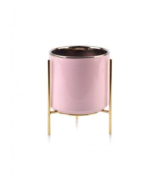 MONDEX NEVA Doniczka na nóżkach 14 x 18 cm / różowa / ceramika