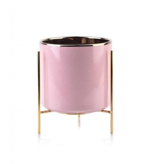 MONDEX NEVA Doniczka na nóżkach 17 x 15,8 cm / różowa / ceramika