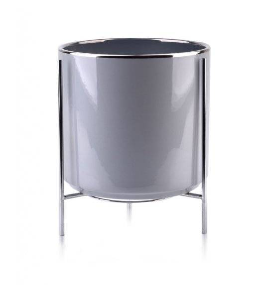 MONDEX NEVA Doniczka na nóżkach 20,2 x 19 cm / szara / ceramika