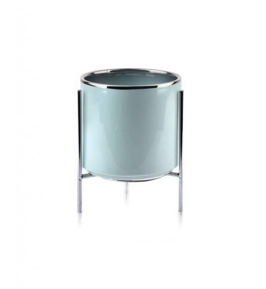 MONDEX NEVA Doniczka na nóżkach 14 x 13 cm / miętowa / ceramika