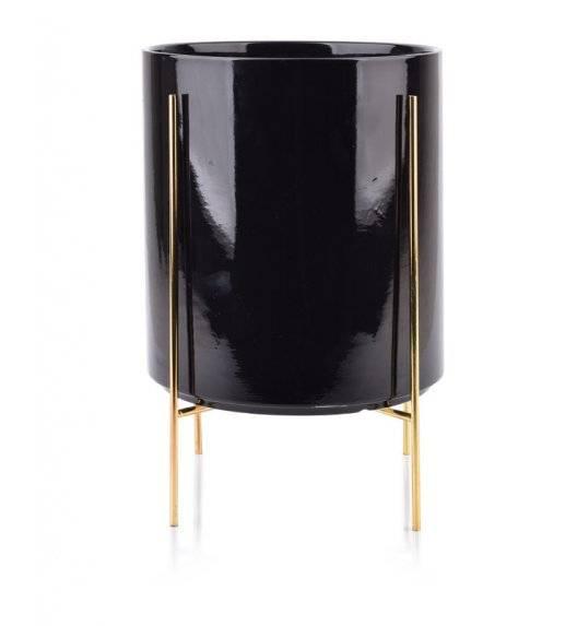 MONDEX NEVA Doniczka na nóżkach 23 x 26 cm / czarna / ceramika