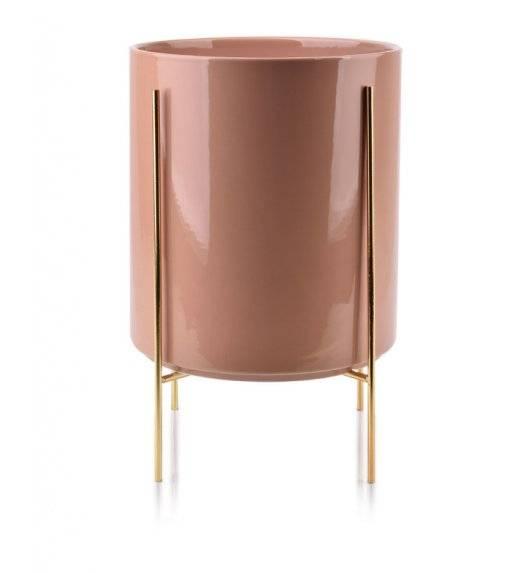 MONDEX NEVA Doniczka na nóżkach 23 x 26 cm / różowa / ceramika