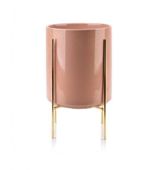 MONDEX NEVA Doniczka na nóżkach 17,8 x 20,8 cm / różowa / ceramika
