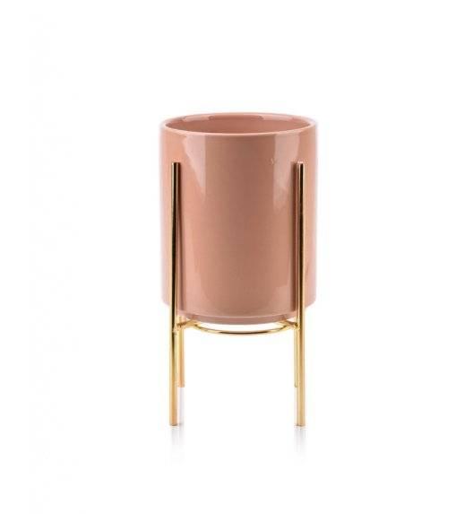 MONDEX NEVA Doniczka na nóżkach 12,8 x 15,5 cm / różowa / ceramika