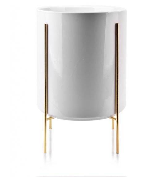 MONDEX NEVA Doniczka na nóżkach 23 x 26 cm / biała / ceramika