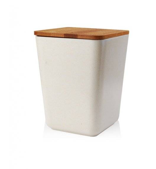 MONDEX BAMBOO NATURAL Pojemnik M  11 x 14 cm / biały / bambus