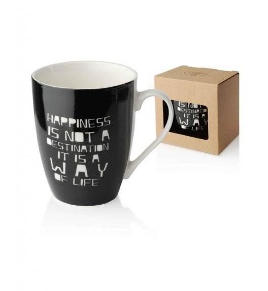 AFFEKDESIGN SZCZĘŚCIE Kubek 350 ml / czarny /  porcelana