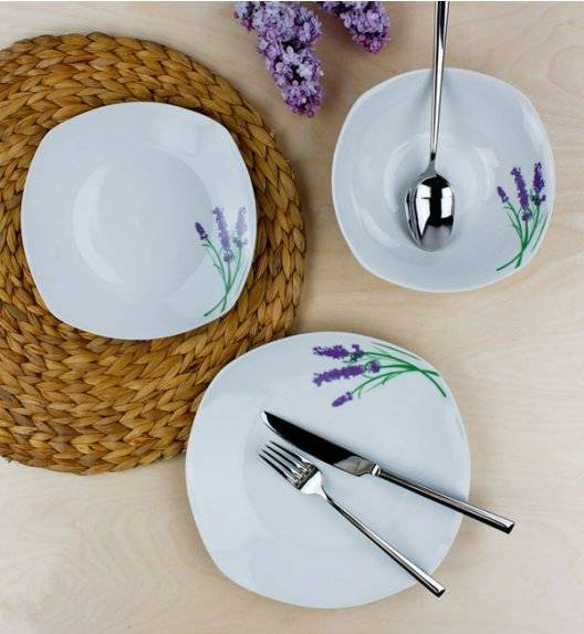 AFFEKDESIGN LAWENDA Serwis obiadowy 36 elementów / 12 osób / porcelana