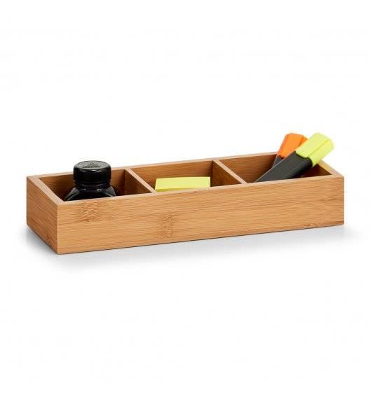 ZELLER Pojemnik / organizer na drobiazgi z 3 przegródkami / drewno bukowe