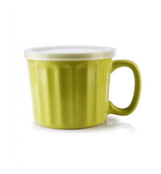 AFFEKDESIGN SALLY SOUP Kubek z pokrywką 450 ml / neonowy zielony / ceramika