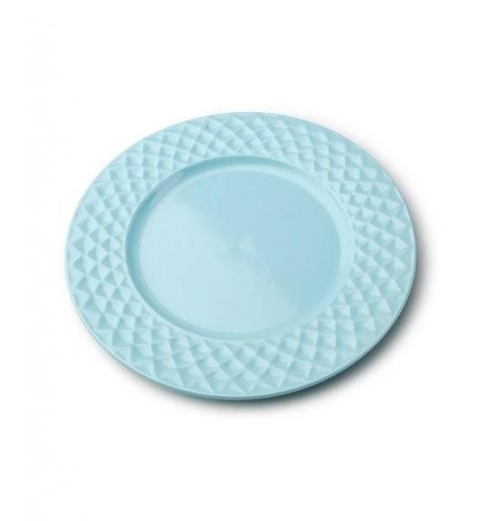 DIAMOND BLUE Talerz płaski 26,5 cm / niebieski