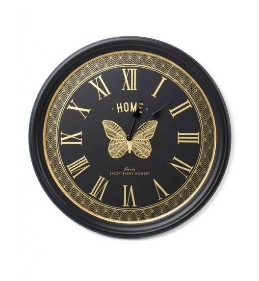 MONDEX CLARA Zegar ścienny okrągły 47 cm / czarno - złoty
