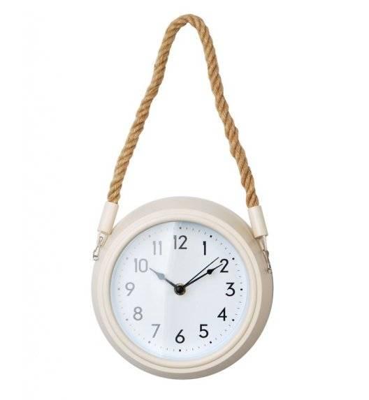 MONDEX  Zegar ścienny okrągły na pasku 15,4 cm / beżowy