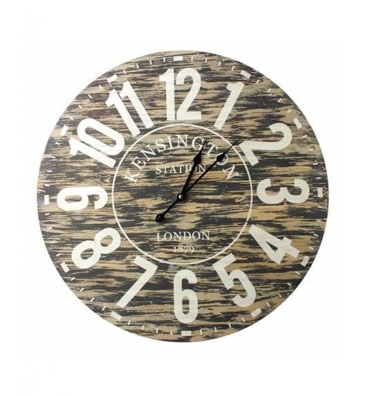 MONDEX Zegar ścienny okrągły 60 cm / imitacja drewna