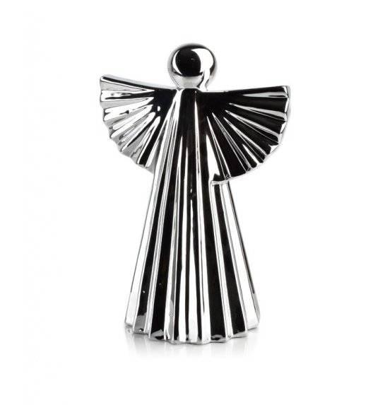 MONDEX ANGEL Figurka 17 x 24,5 cm / srebrna / ceramika