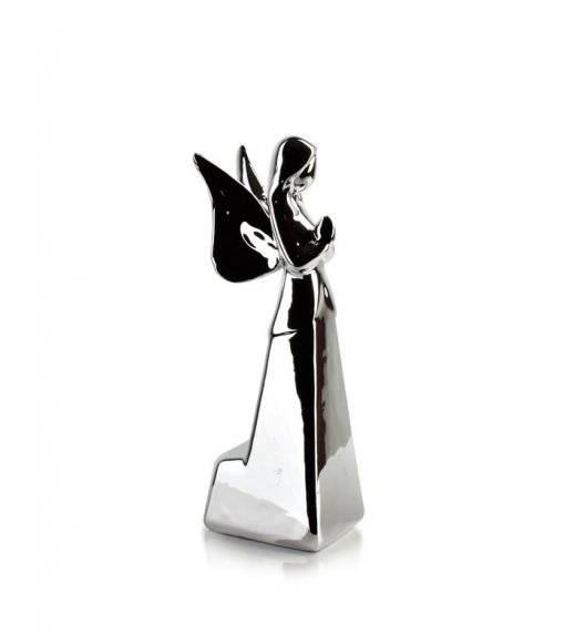 MONDEX ANGEL Figurka 9 x 23,20 cm / srebrna / ceramika