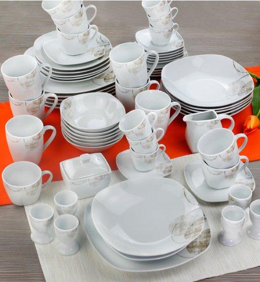 WYPRZEDAŻ! ARZBERG ASANTE Niemiecki serwis obiadowo-kawowy 60 el / 6 os / porcelana