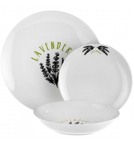 WYPRZEDAŻ! TADAR LAVENDER Komplet 8 talerzy / porcelana